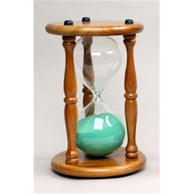 G. W.  Schleidt 60030NA-G 30 Minute Hourglass - Natural Stand-Green Sand - 9. 5 inch