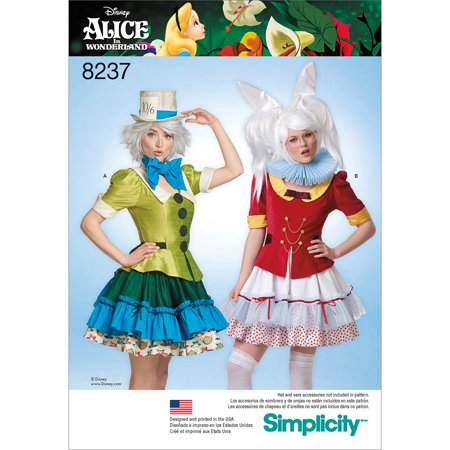 Simplicity Misses' Size 6-14 Alice in Wonderland Costumes Pattern, 1 - Alice And The Wonderland Costumes