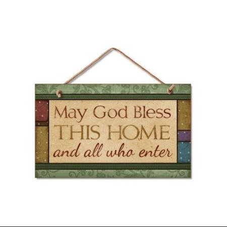 May God Bless This Home Sign Inspirational Plaque ()