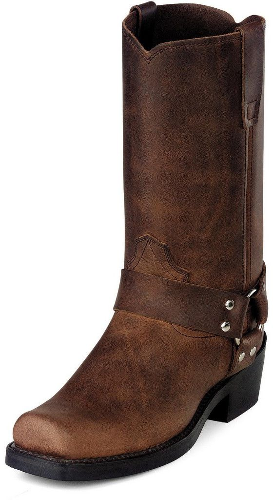 "Durango Motorcycle Boots Mens 11"" Harness Strider Heel Brown DB594 by Durango"