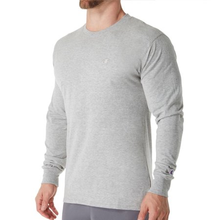 Men's Champion T2978 Classic Athletic Fit Jersey Long Sleeve Tee Classic Long Sleeve Jersey