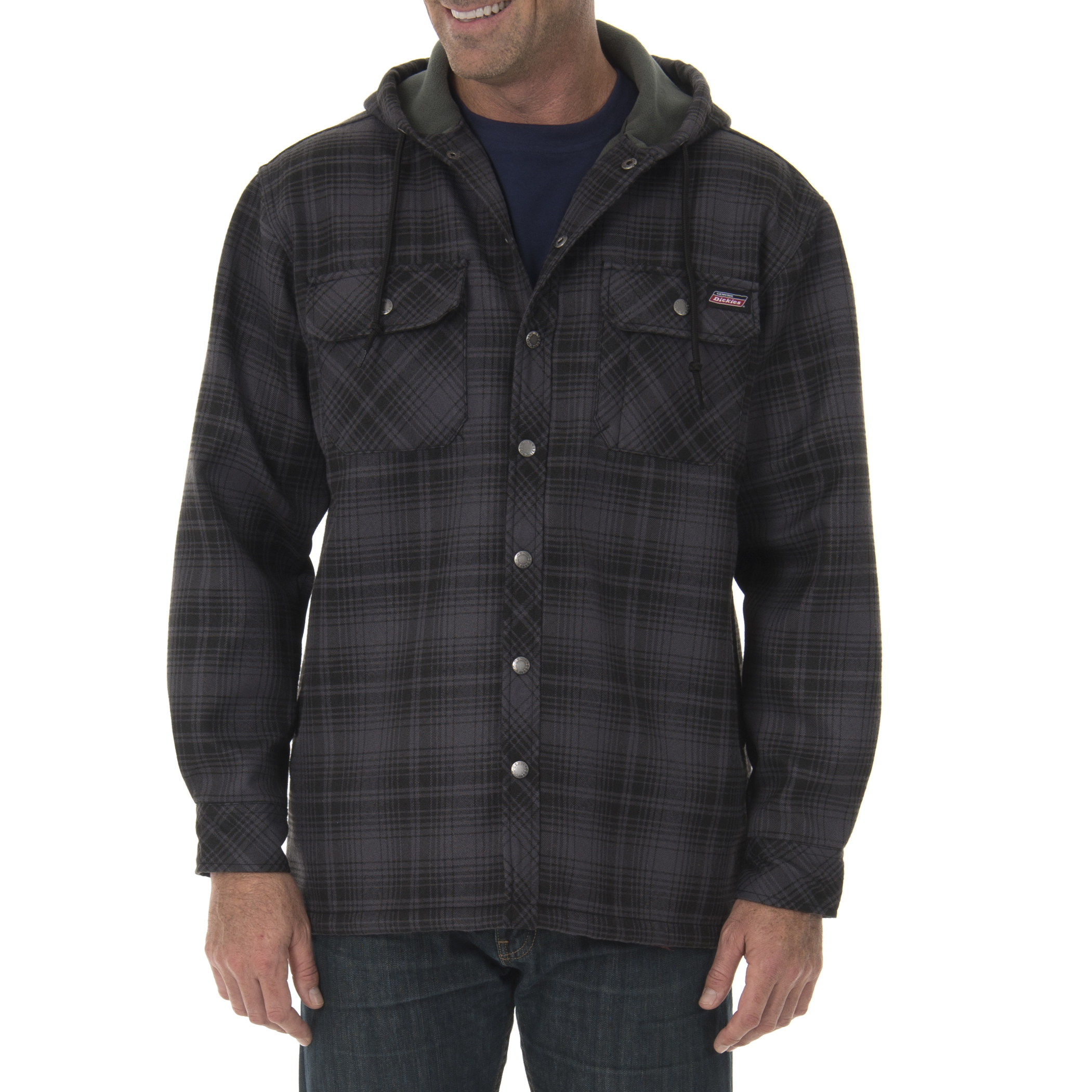 Dickies Big Men's Twill Polar Fleece Lined Shirt Jacket