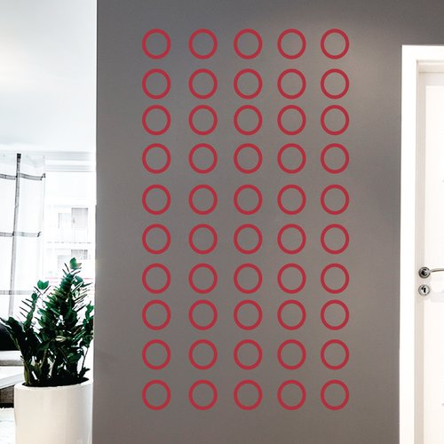Wallums Wall Decor Contemporary Circles Wall Decal
