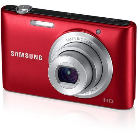 Samsung ST72 16.2MP 3-inch TFT LCD Digital Camera (Red) - Walmart.com