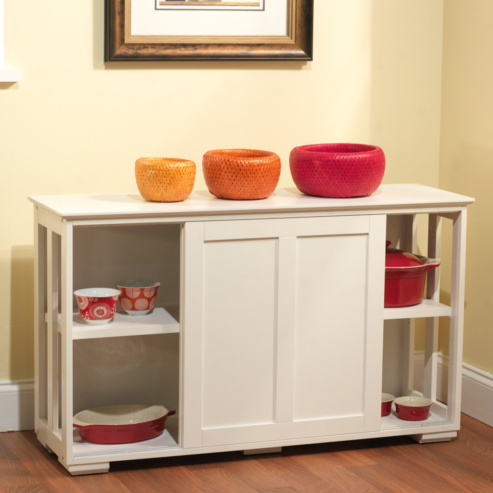 Sliding Wood Doors Stackable Storage Cabinet, Multiple Colors   Walmart.com