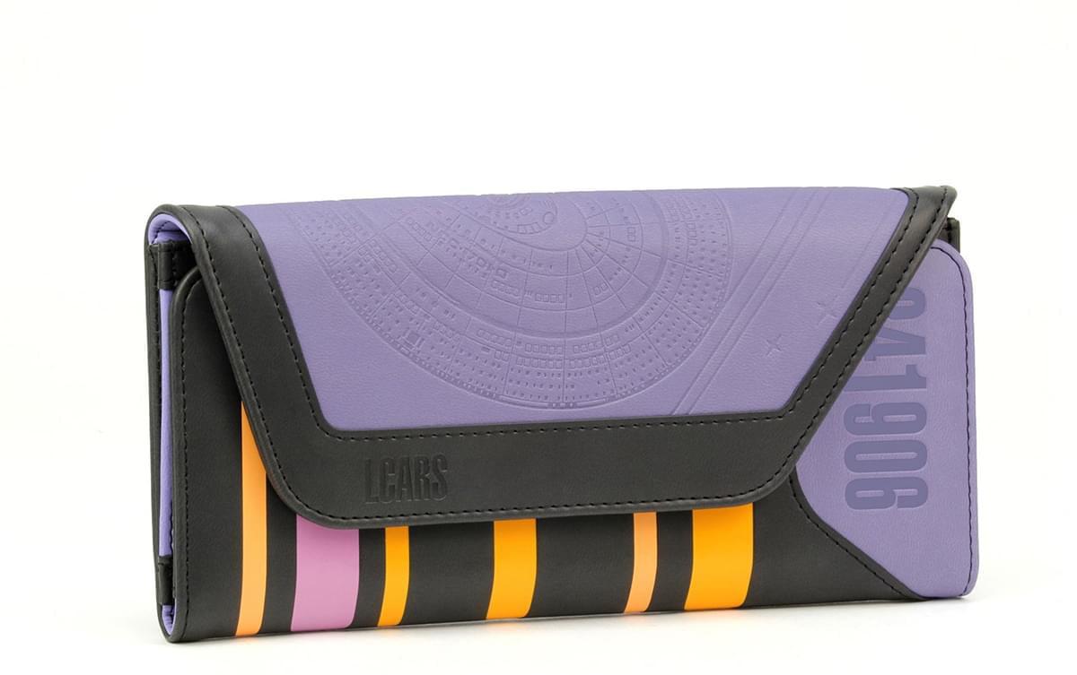 ENTERPRISE *Great Gift* Mens Leather Bi-Fold Wallet w// STAR TREK U.S.S