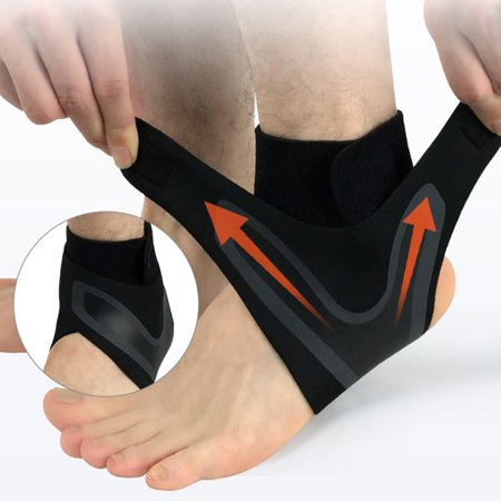Professional Foot Sleeve Pair(1 Pcs) with Compression Wrap Support, Breathable, Stabiling Ligaments, Prevent Re-Injury, Boots Circulation, Ankle Brace, Volleyball Protective Gear Ankle Guards (Ligament Support)