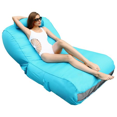 OVE Decors  Aqua sunlounger - Inflatable Pool Float (Blue)
