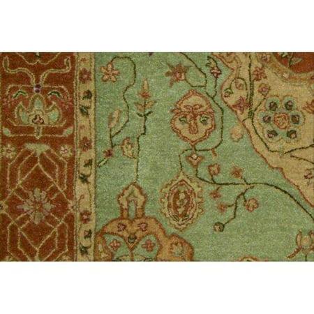 Nourison Hand-tufted Heritage Hall Aqua Wool Rug