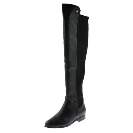 Chinese Laundry Womens Robin Leather Contrast Trim Over-The-Knee Boots (Zappos Chinese Laundry)
