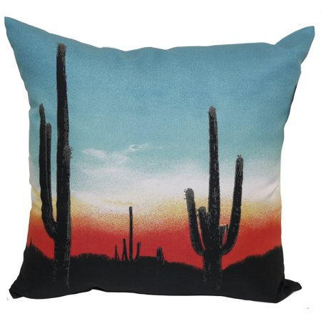 Mainstays Outdoor Pillow Sunset Cactus Walmart Com