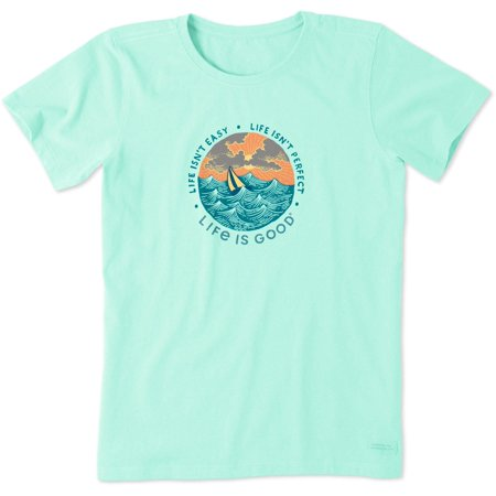 Life Is Good Womens Life Isn't Easy Crusher T-Shirt (Womens Life Is Good Clothes)