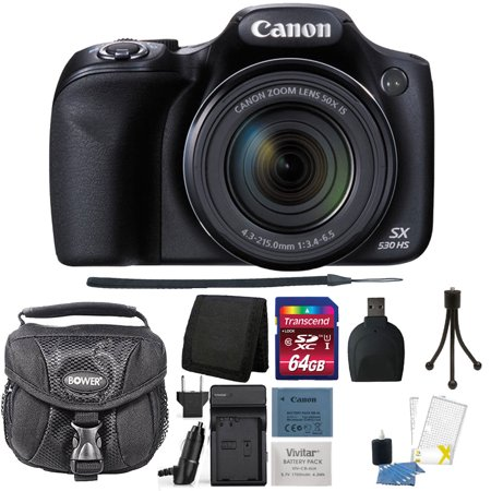 Canon Powershot SX530 HS 16MP Digital Camera with Accessory Kit