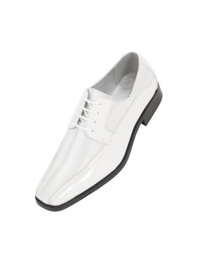 34376d20dc0ffa Free shipping on orders over  35. Free pickup. Product Image Viotti Men s  Formal Oxford Dress Shoe Striped Satin Patent Tuxedo Classic Lace up Style  179