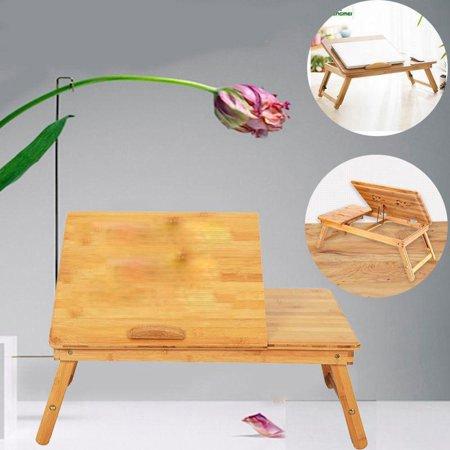 Ktaxon Portable Laptop Desk Folding Foldable Lap Tray Bed Adjustable Table Stand...