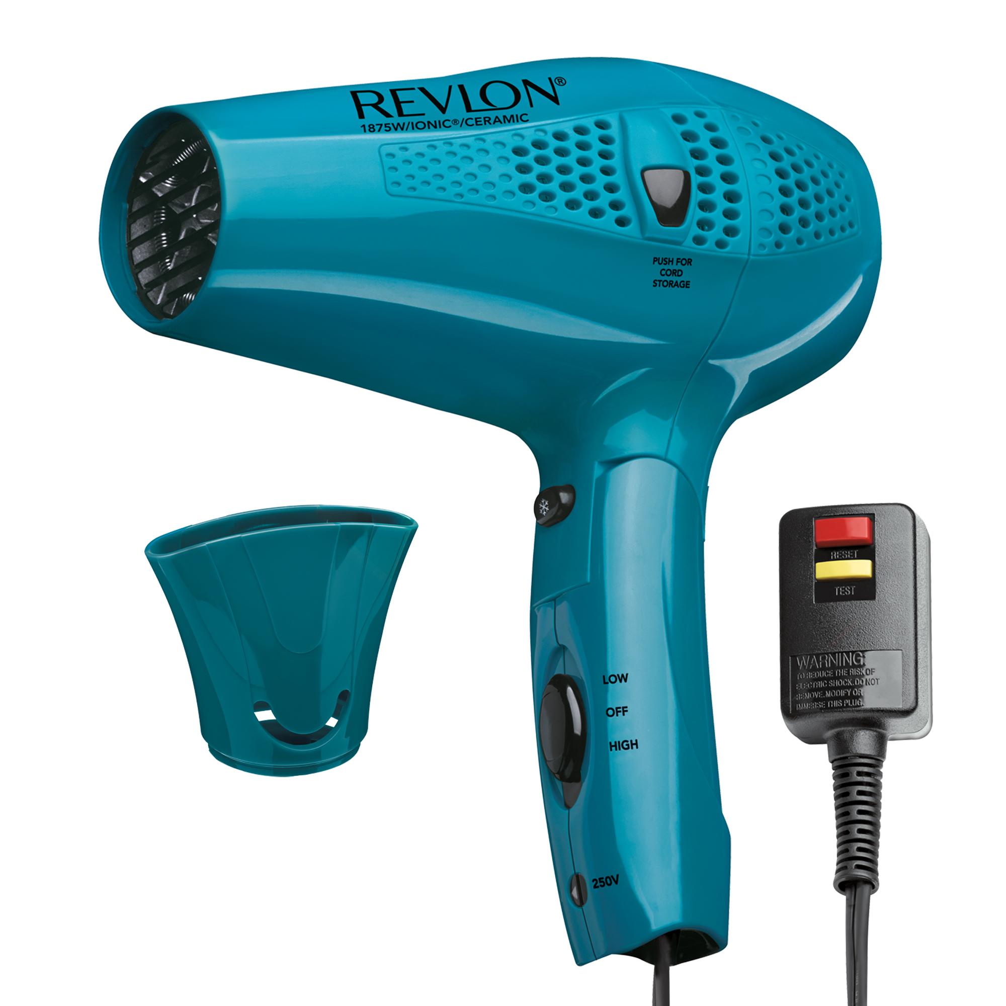 Revlon Essentials Cord Control RVDR5175 1875W IONIC TECHNOLOGY® Hair Dryer, Teal