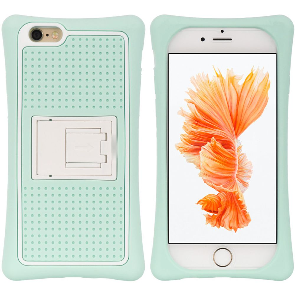 Insten Hard Plastic Silicone Cover Case w/stand For Apple iPhone 6 / 6s - Teal/White - image 3 of 3