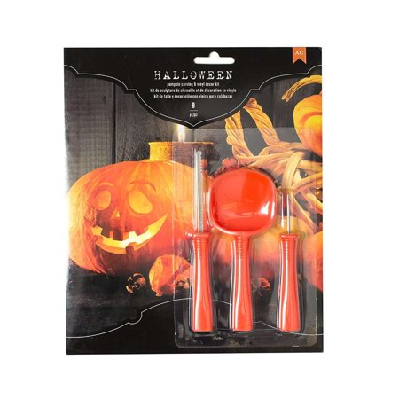 American Crafts 376606 Faces Halloween Pumpkin Carving Kit Faces 9 Piece for $<!---->