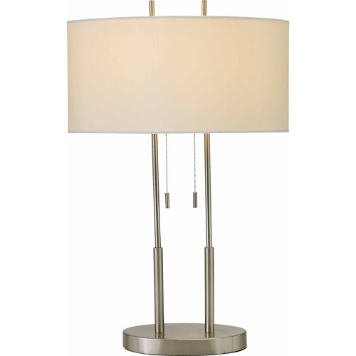 Adesso Duet Table Lamp, Satin Steel by Adesso Inc.