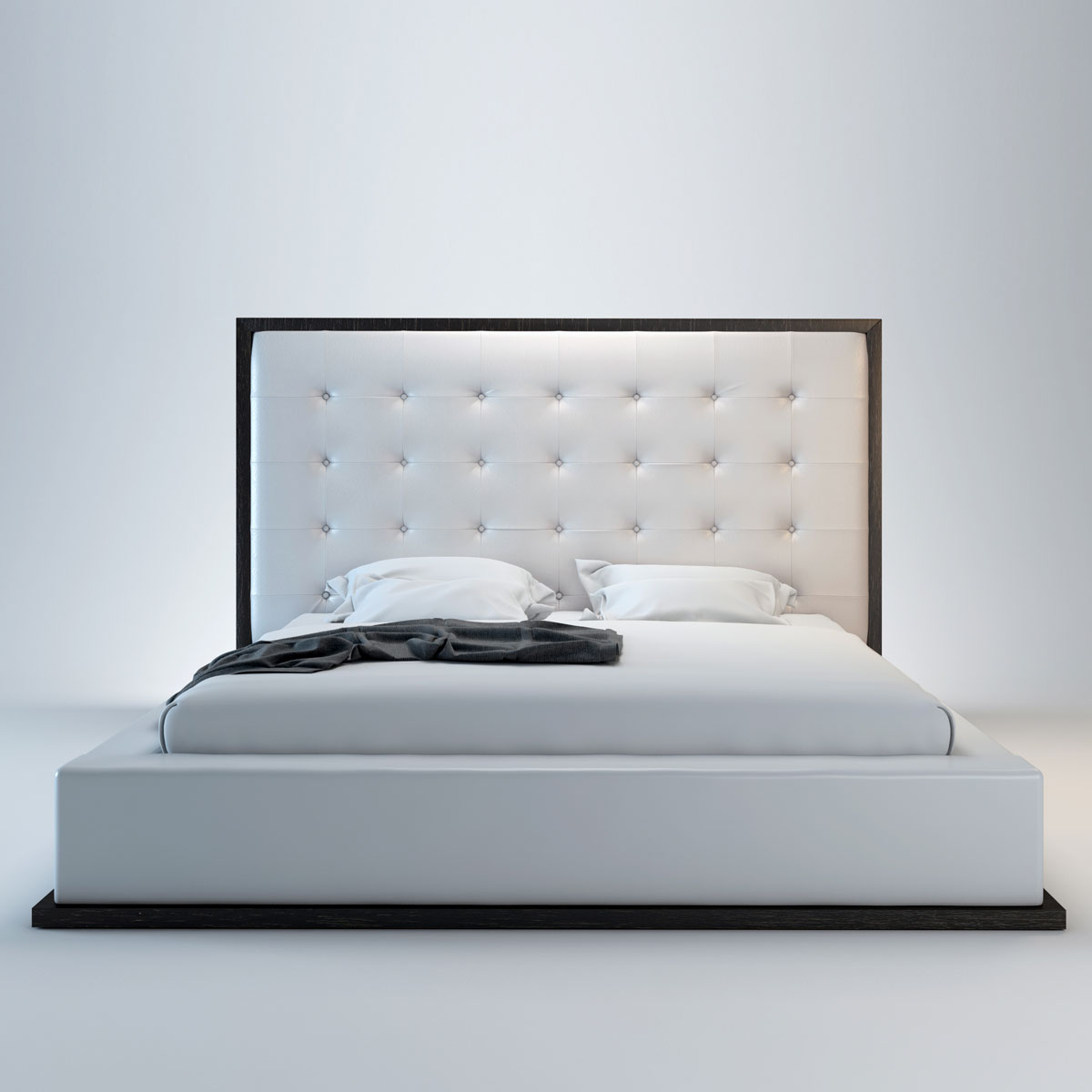 Modloft Ludlow Platform Bed in Wenge and White - (Queen)