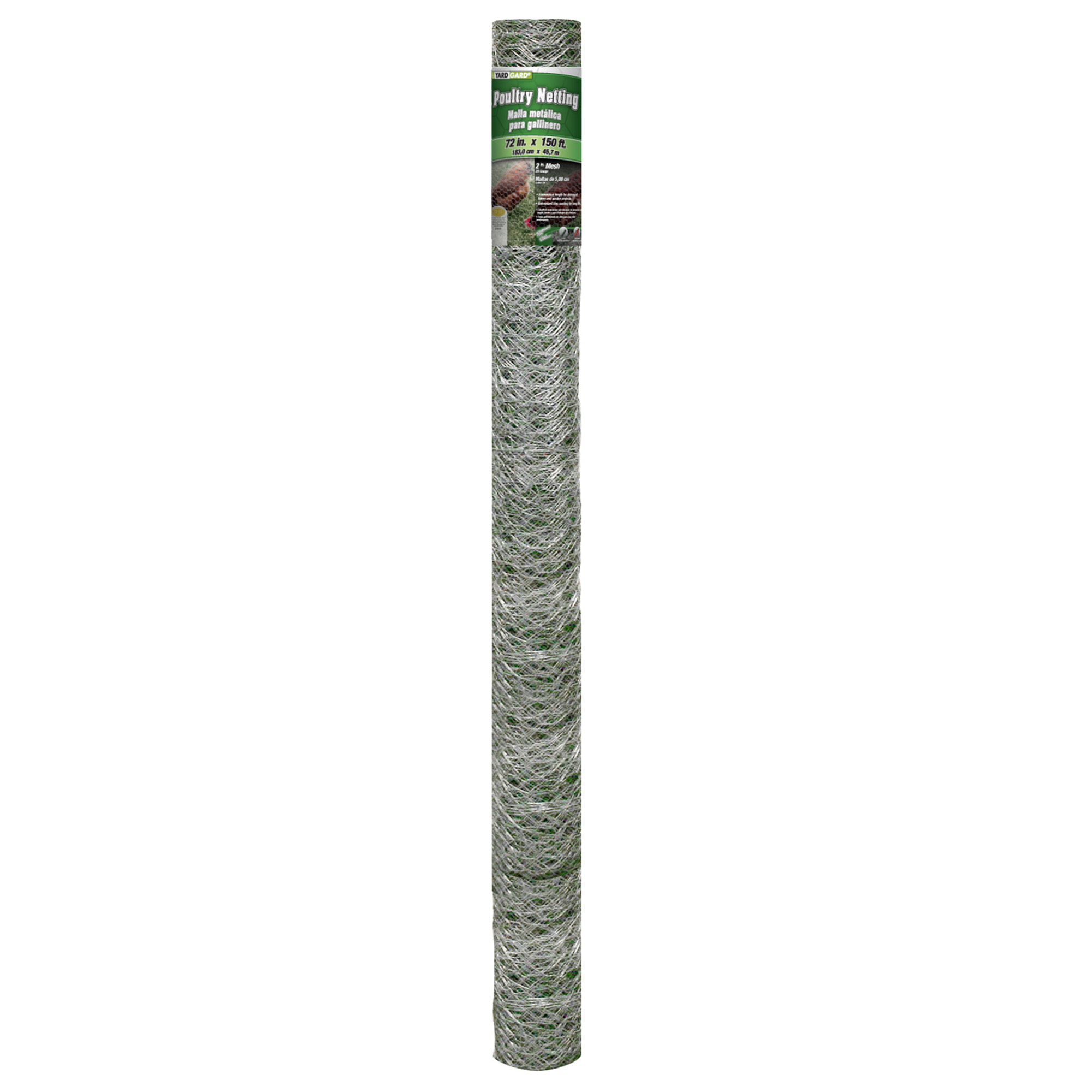 YARDGARD 72 inch by 150 foot 20 Gauge 2 inch Mesh Poultry Netting