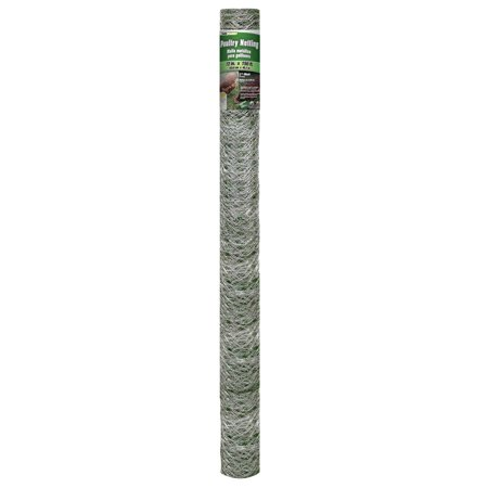 YARDGARD 72 inch by 150 foot 20 Gauge 2 inch Mesh Poultry Netting - Galvanized Steel Fencing