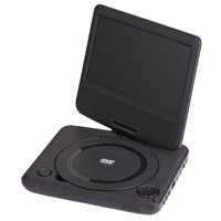 """onn. 7"""" Portable Dvd Player Kit, Black, With 4 Hour Battery"""