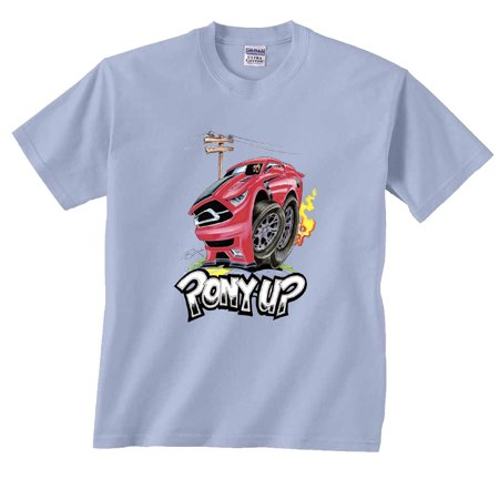 Pony Up Ford Mustang Cartoon T-Shirt