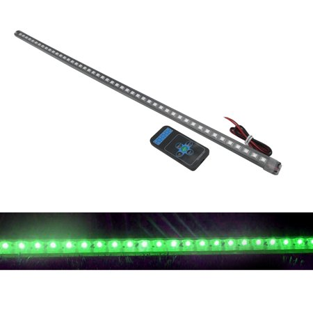 TrendBox 56cm 48 LED 5050 Flexible Soft Waterproof Car Vehicle Flash Knight Rider Strip Lights with Remote Control - -