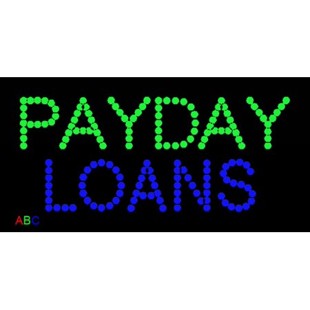 9 5 X19  Abc Led Signs Payday Loans Led Sign W Flashing Controller