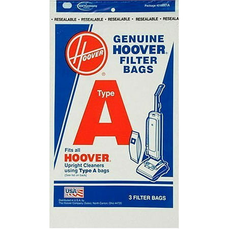 Hoover 4010001A Type A Vacuum Bags, 9 Bags (Hoover Sweeper Bags)