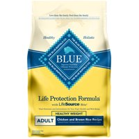 Blue Buffalo Life Protection Formula Natural Adult Healthy Weight Dry Dog Food, Chicken and Brown Rice, 6-lb