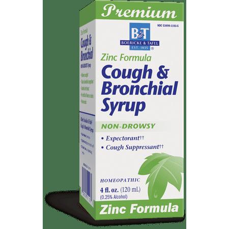 Boericke & Tafel Cough & Bronchial Syrup, Zinc Formula, 4 Oz