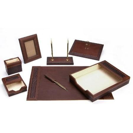 Majestic Goods Brown Eco-Friendly 8-piece Leather Desk Set
