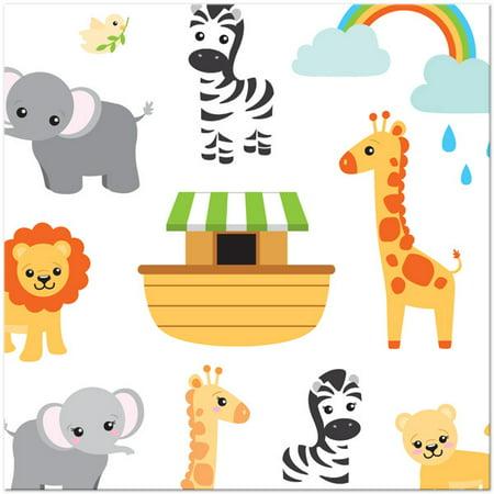 Noah's Ark Party Paper Lunch Napkins, 48ct](Noah's Ark Party Supplies)