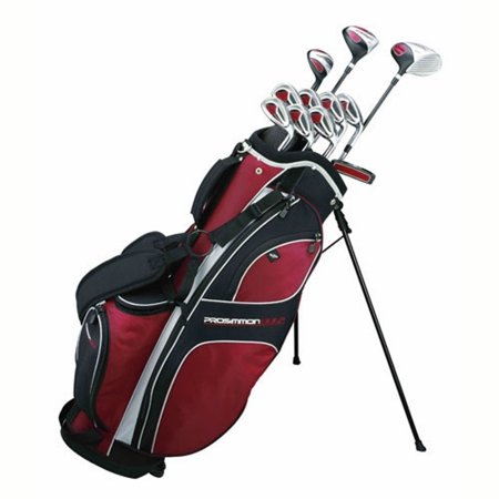 Graphite Stand Bags - Prosimmon Golf DRK Mens RH GRAPHITE Hybrid Club Set & Stand Bag