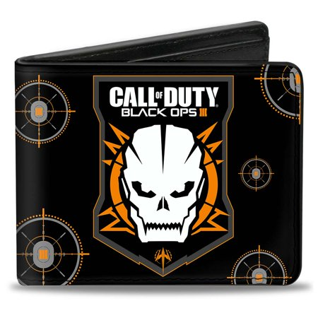 Call of Duty Black Ops III Skull Icon Bi-Fold Wallet