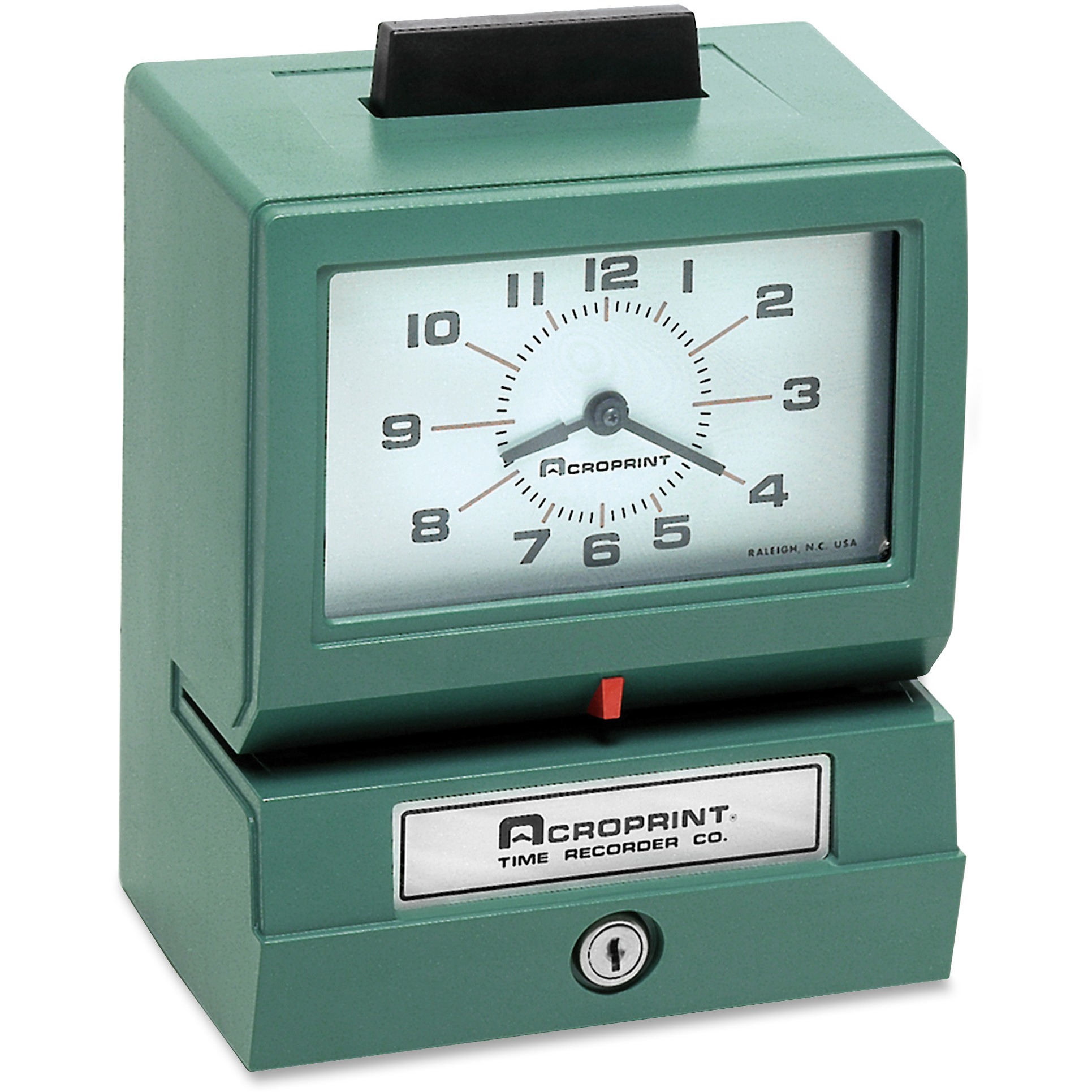 Acroprint Model 125 Analog Manual Print Time Clock with Month Date 0-12 Hours Minutes by Acroprint Time Recorder Company