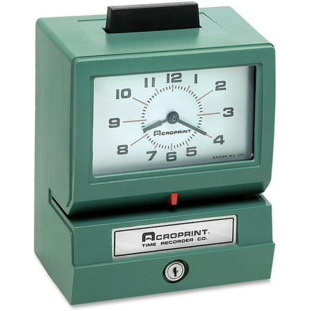 Acroprint Model 125 Analog Manual Print Time Clock with Month/Date/0-12 Hours/Minutes Acroprint 175 Time Clock