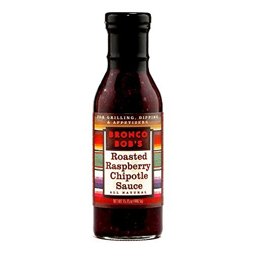 Bronco Bob's Raspberry Chipotle Sauce 5.75 oz each (6 Items Per Order) by