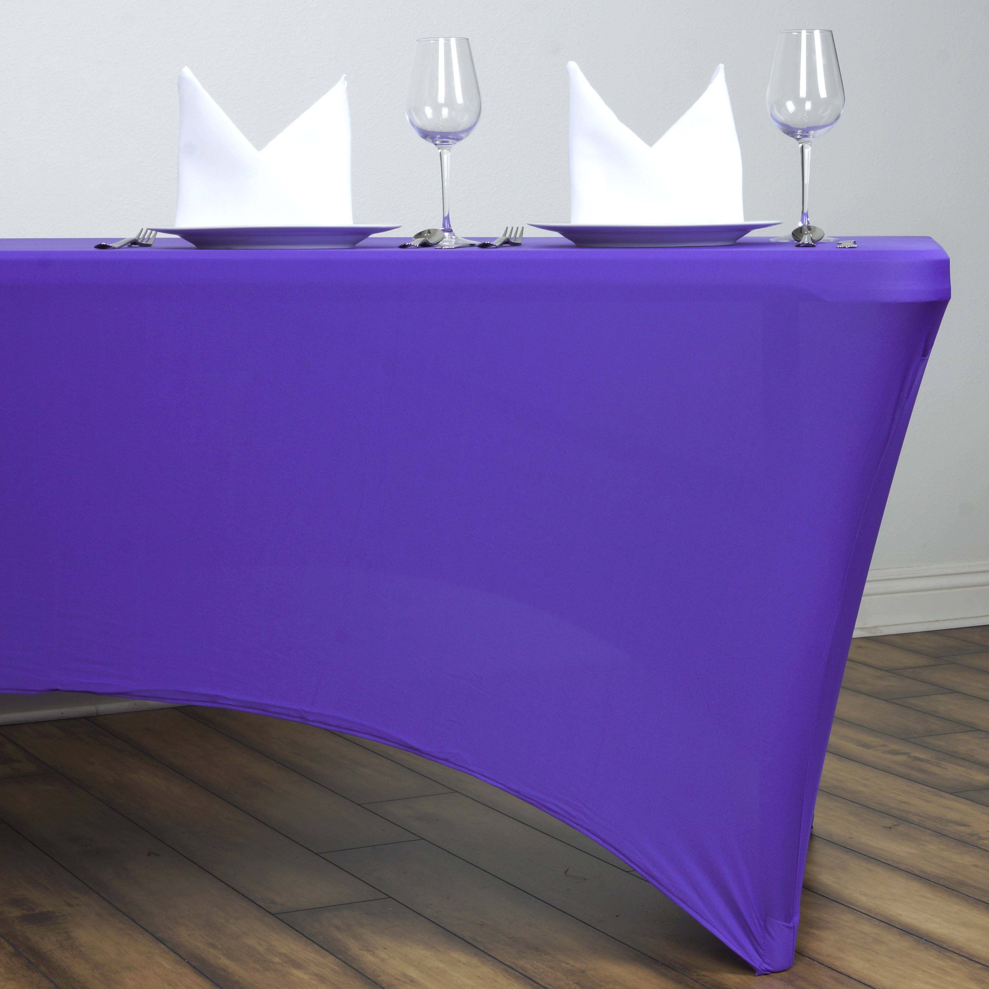 Rectangular Fitted Stretch Tablecloth Wedding Banquet Party Table Cover Decor