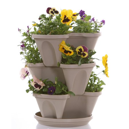 Nancy Janes 12 in. Self Watering Stacking Planters Set of 3