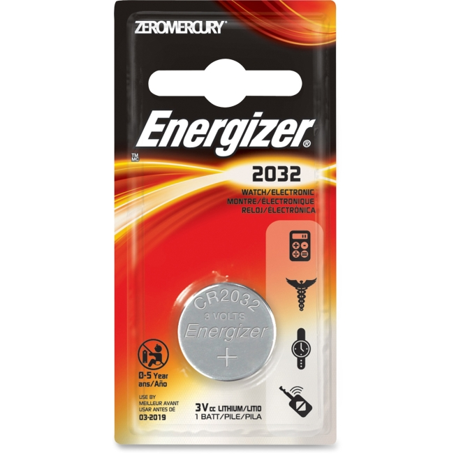 Energizer Energizer Coin Cell Battery - 220 mAh - Lithium Manganese Dioxide - 3 V DC - 1 / Card