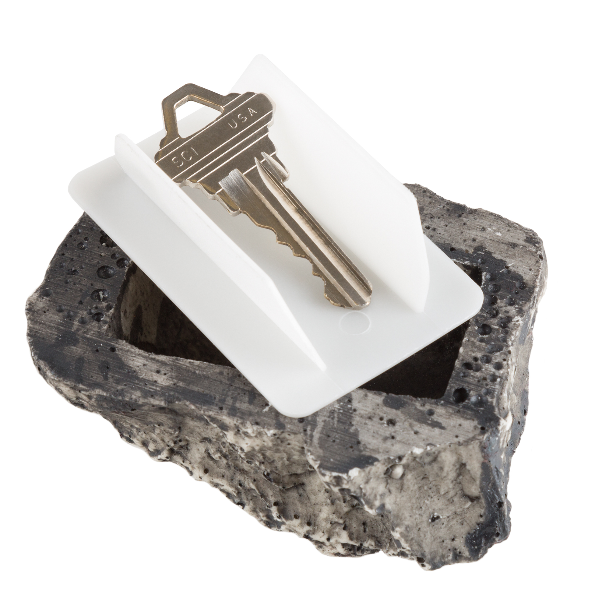 As Seen on TV Hide-A-Key Realistic Rock Outdoor Key Holder, Safety Security Key Holder