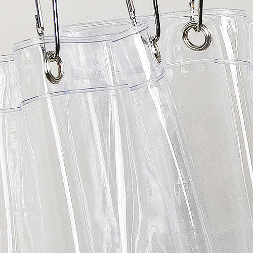 Vinyl Shower Curtain Liner, Clear