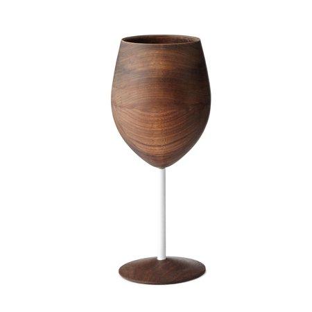Denby Glass White Wine Glass (David Rasmussen Design Dark Walnut Wooden WUD Wine Glass with White)