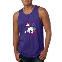 Born to be a Unicorn Mens Fashion Graphic Tank Top