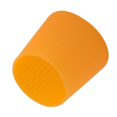 Heat Treated Water Glass - Silicone Heat Insulation Nonslip Glass Water Cup Bottle Protector Sleeve Orange