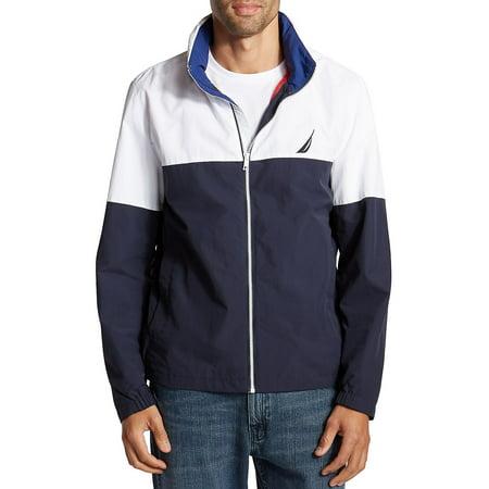 Lightweight Colorblock Packable Bomber Jacket (Nautica Sweater Men)