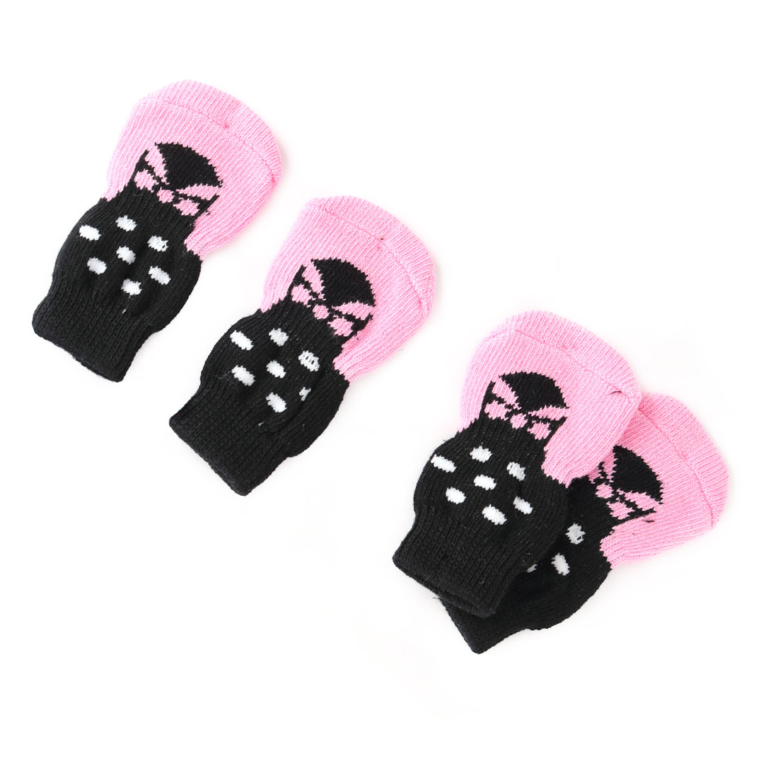Unique Bargains Outdoor Walking Acrylic Paw Pattern Pet Puppy Dog Anti-slip Socks 2 Pair
